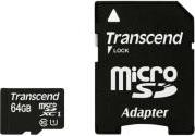 TS64GUSDU1 64GB MICRO SDXC CLASS 10 UHS-I 400X PREMIUM WITH ADAPTER TRANSCEND