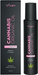 WISE BEAUTY CANNABIS ORGANIC OIL FOR HAIR, BODY & FACE ΕΛΑΙΟ ΑΜΕΣΗΣ ΘΡΕΨΗΣ ΓΙΑ ΠΡΟΣΩΠΟ, ΣΩΜΑ, ΜΑΛΛΙΑ 100ML VICAN